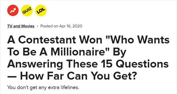 Cuestionario de BuzzFeed