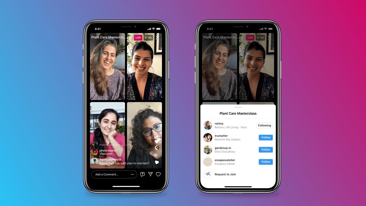 Instagram salas en vivo UX