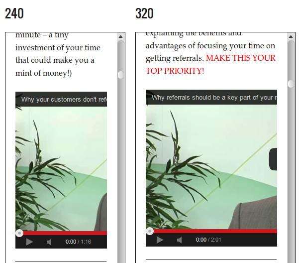 El video de Genesis Prose no cambia de tamaño