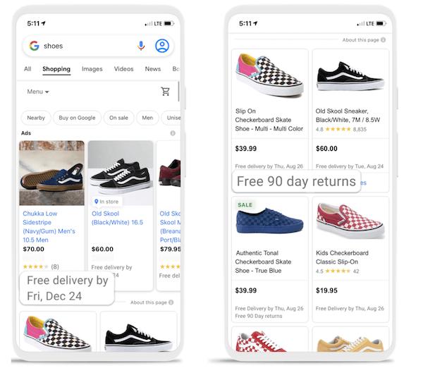 Actualizaciones de anuncios de Google en septiembre de 2021: nuevos atributos de envío en anuncios de Shopping