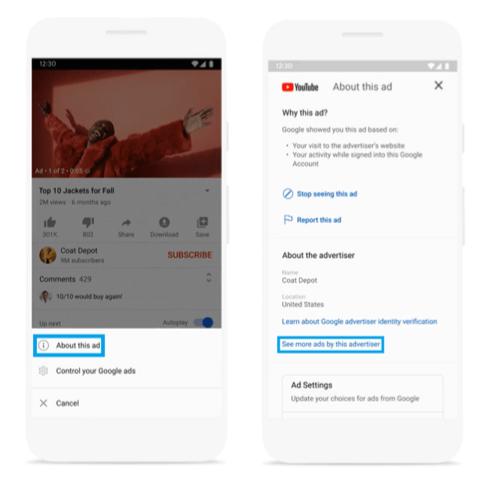 actualizaciones de anuncios de google: ejemplo de google