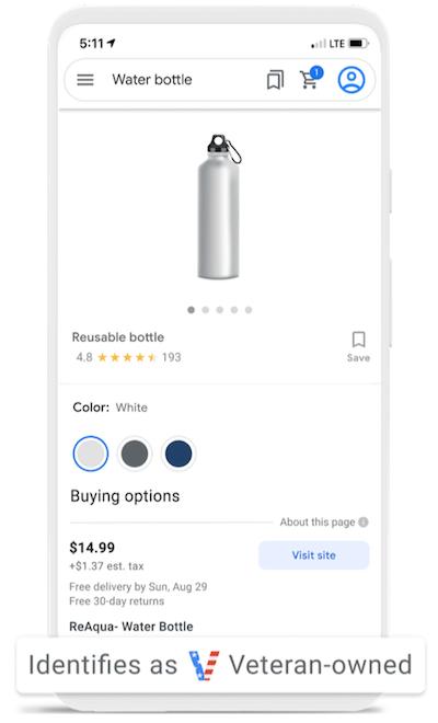 actualizaciones de anuncios de Google en septiembre de 2021: atributo de propiedad de veteranos en el anuncio de Google Shopping