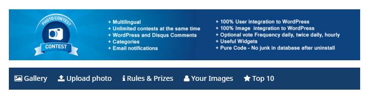 Complemento de WordPress para concurso de fotografía