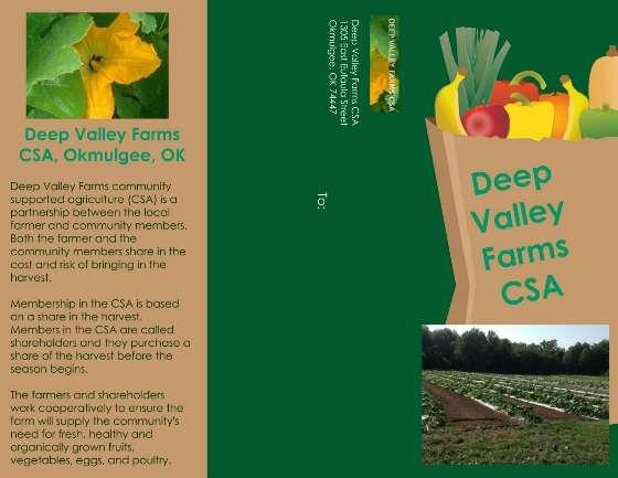 Deep Valley Farms Okmulgee, OK anuncio publicitario de CSA