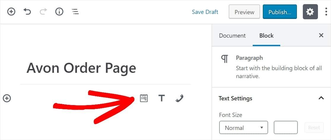 widget para insertar formulario