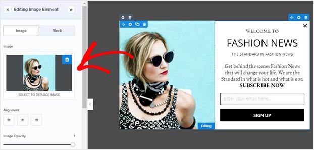 Editar imagen de plantilla de moda