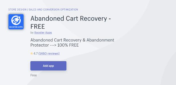 Recuperación de carritos abandonados gratis shopify-min