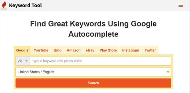 herramientas de palabras clave