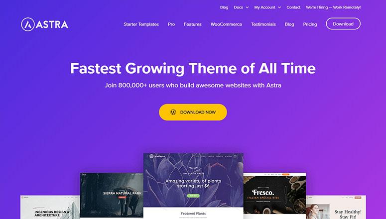 Tema Astra, temas de comercio electrónico gratuitos