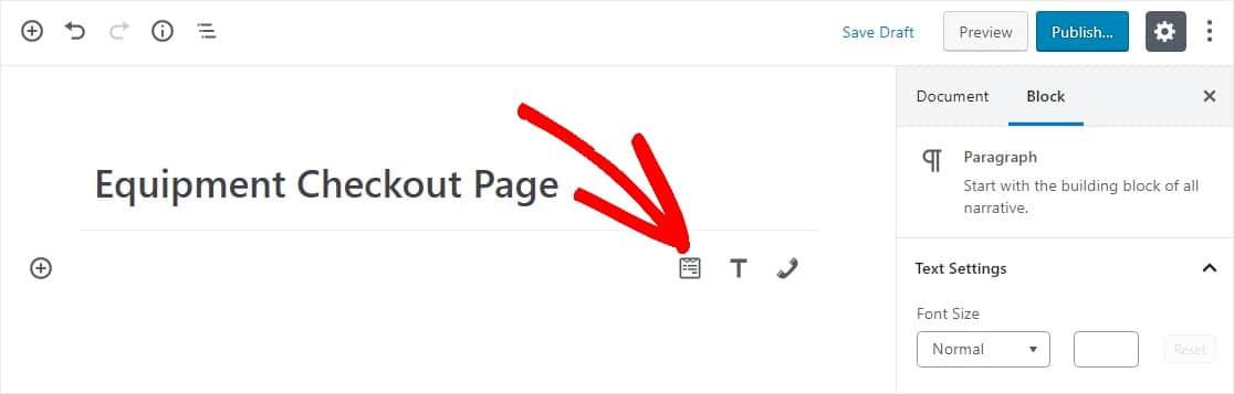 widget en la página