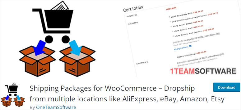 Paquetes de envío para WooCommerce