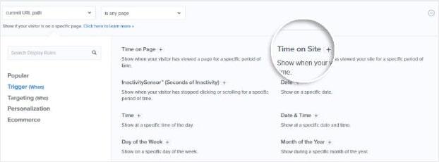 Regla de visualización del tiempo en el sitio