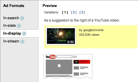 Posiciones de anuncios de video TrueView de AdWords en YouTube