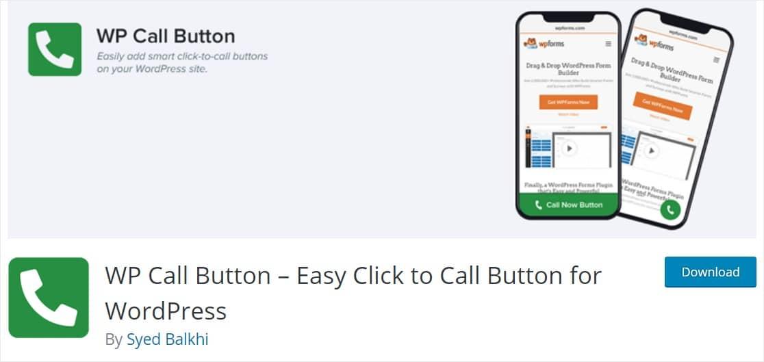 agregue un botón de clic para llamar a su sitio de wordpress en minutos