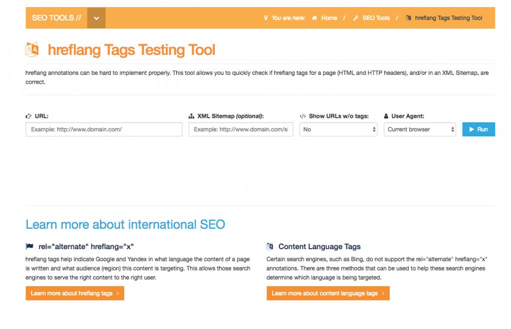 probar etiquetas hreflang herramientas técnicas gratuitas de seo