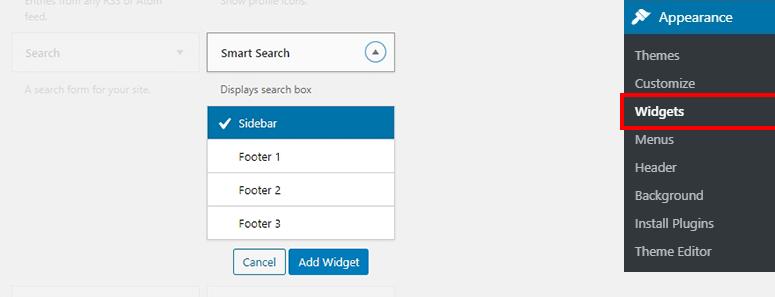 Widget de búsqueda inteligente