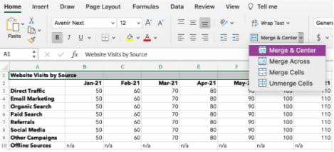 Cómo centrar datos en Excel