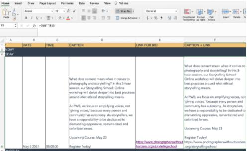 un ejemplo de la función ampersand en Excel