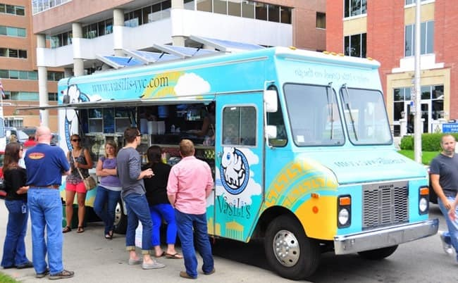 camión de comida moderno