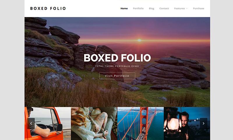 Demostración del tema de WordPress Total Boxed Porfolio