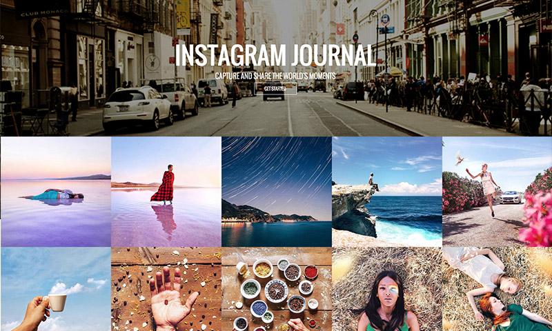 complemento de wordpress de portafolio de diario de instagram