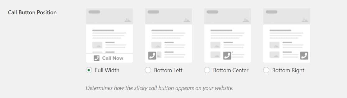 seleccionar la posición del botón