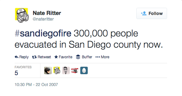 Nate Ritter sandiegofire Tweet
