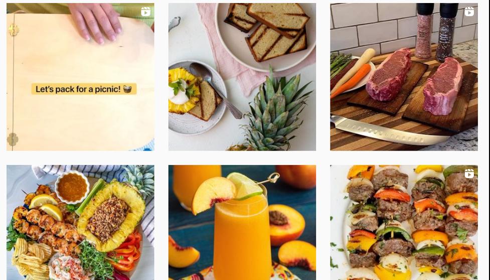 Ejemplos de publicidad en Instagram de Sprouts Farmers Market.