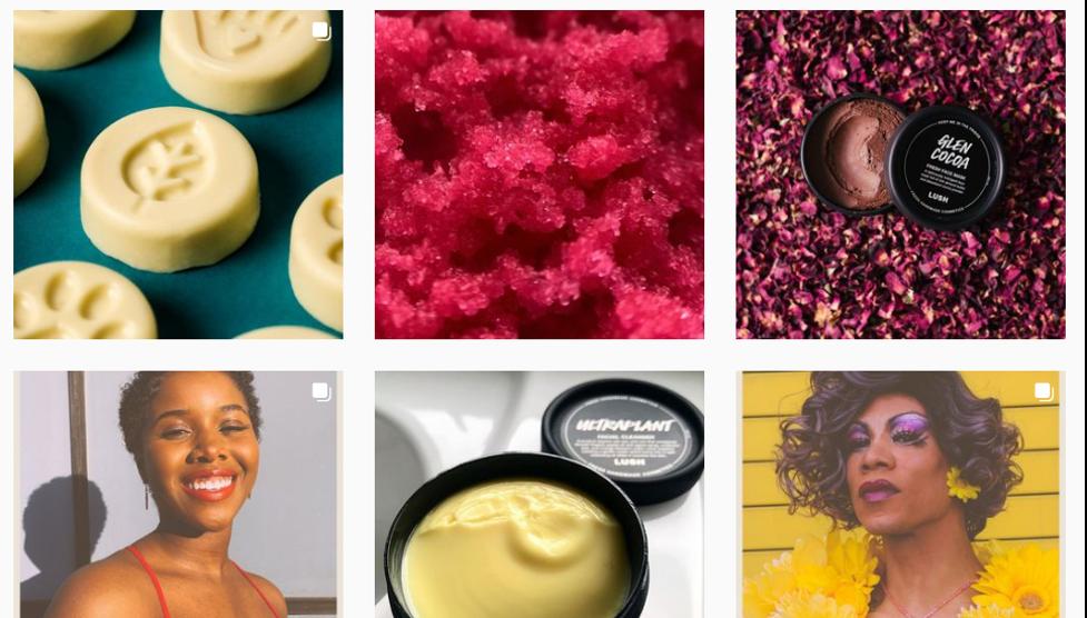 Ejemplos orgánicos de Instagram de Lush.