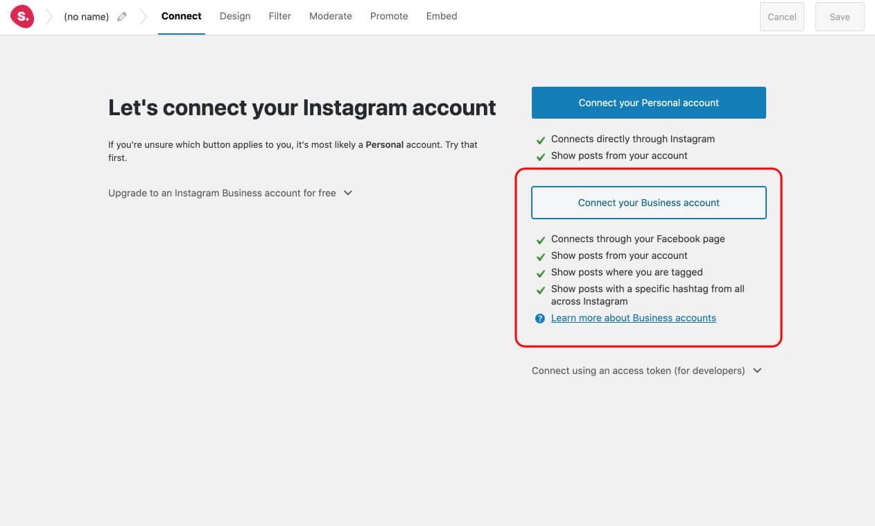 Conéctese a su cuenta de Instagram