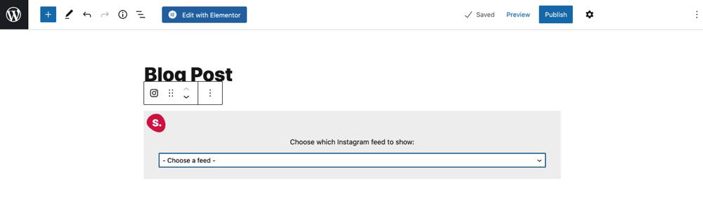 Feed de selección de bloque de Instagram de Spotlight