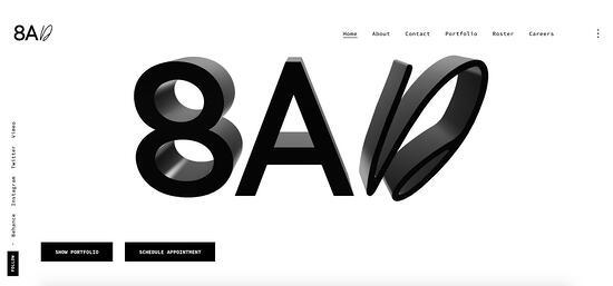 Ejemplo de Studio 8AD de buena jerarquía visual