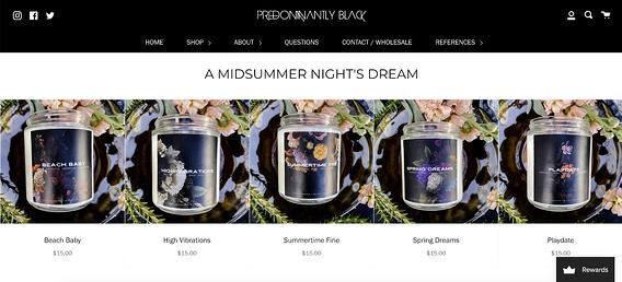 PredominantlyBlack.com ejemplo de buena jerarquía visual