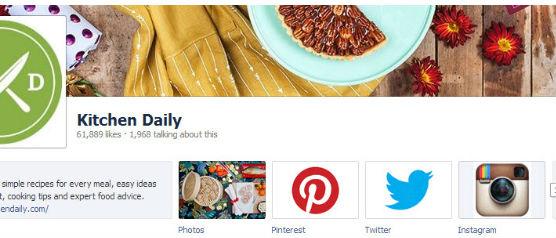 Cocina Diaria Facebook Enlaces de página a otros perfiles sociales
