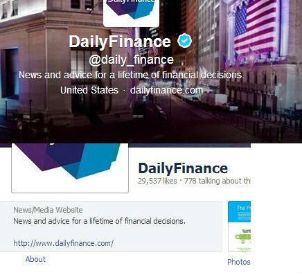 Finanzas diarias Twitter y Facebook Descripciones