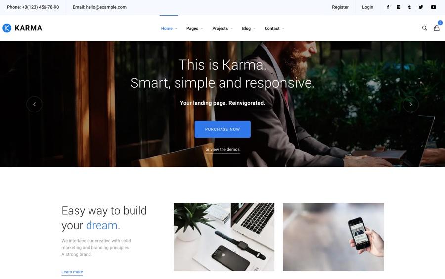 Tema de WordPress multipropósito de Karma