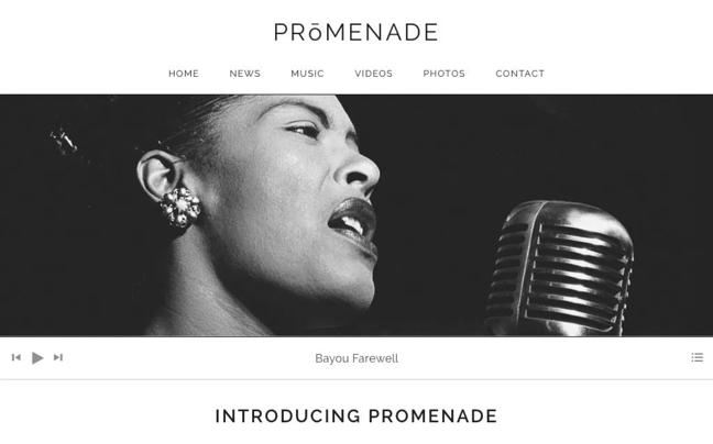 promenade wordpress theme para podcasts página de vista previa