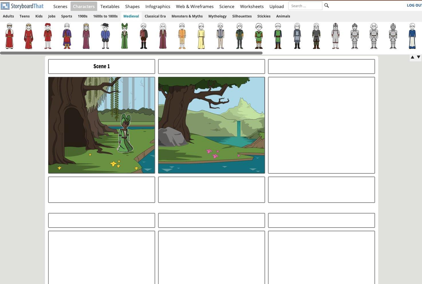 Software de storyboard de StoryboardThat