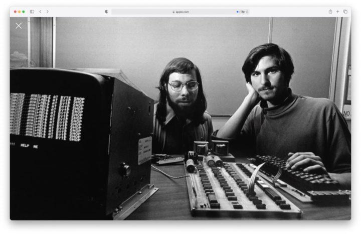 Steve Jobs y Steve Wozniak en la entonces fundada Apple