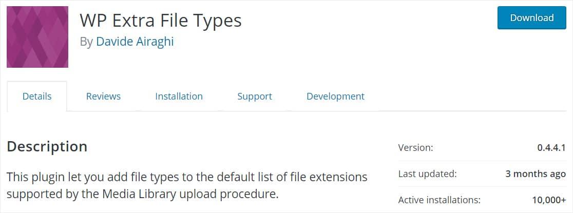 tipos de archivos adicionales wp