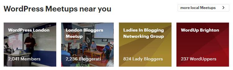 Haga crecer su sitio web de WordPress con Meetups