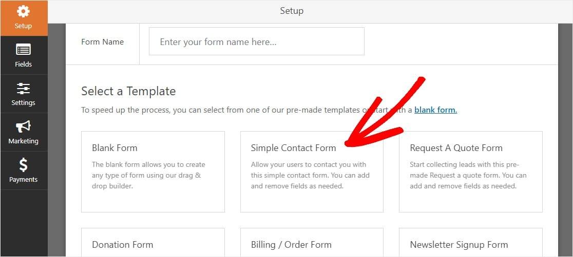 paso 1 crea un nuevo formulario para el formulario de contacto de wordpress ajax