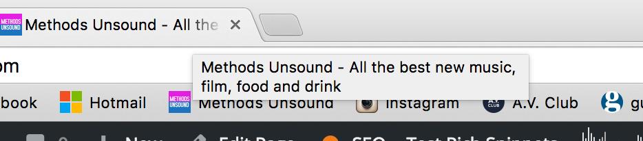 etiqueta de título en el navegador