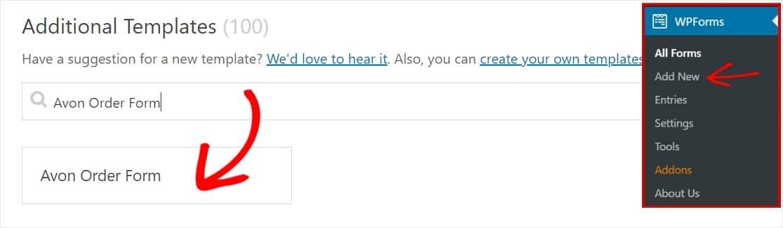 generar formulario de pedido avon en wordpress fácilmente