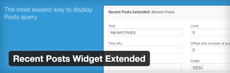 Complemento extendido del widget de publicaciones recientes