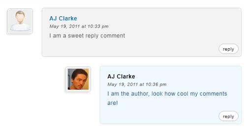 Resaltar los comentarios del autor de WordPress