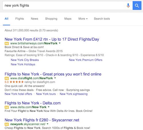 vuelos a nueva york Búsqueda de Google