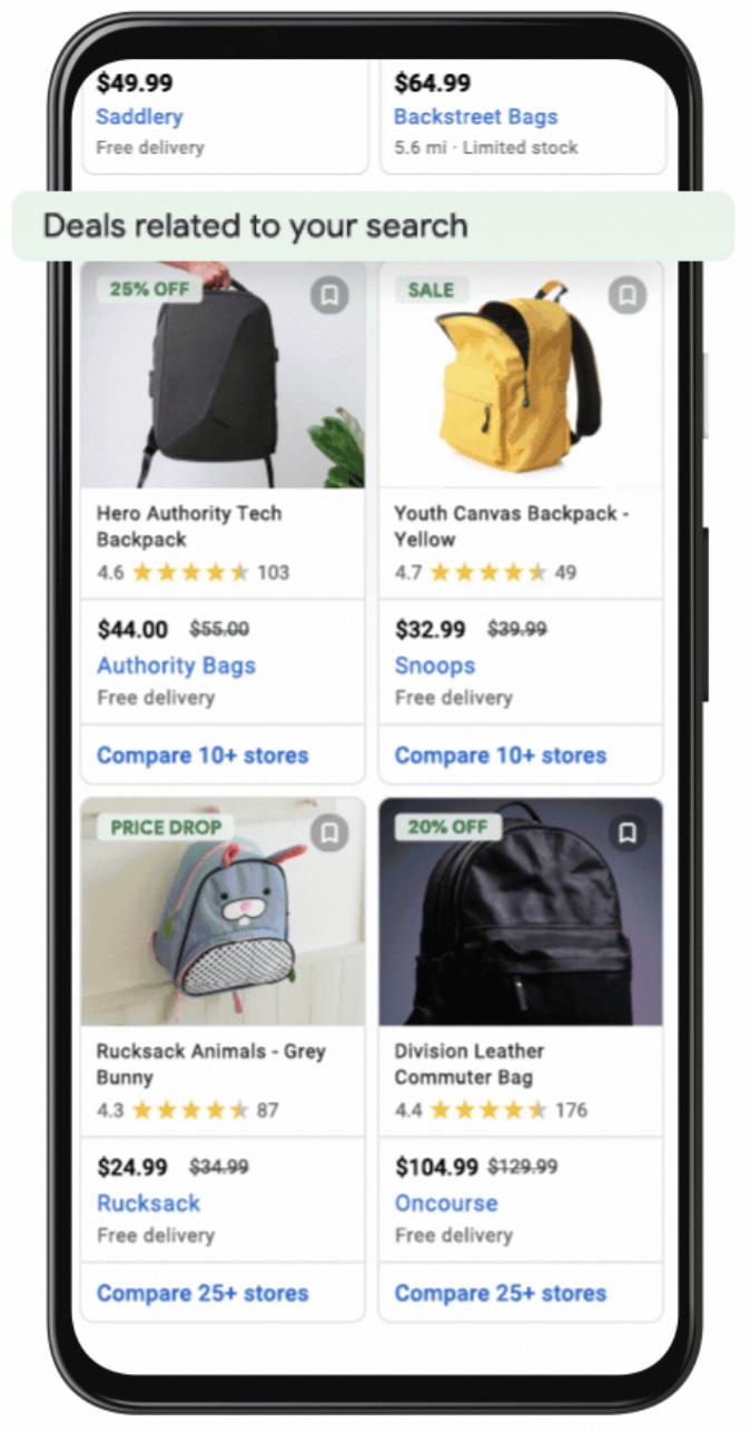 Google lanza listas de ofertas gratuitas en los resultados de búsqueda