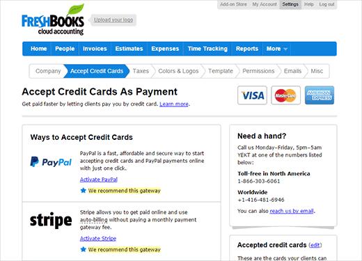 Acepte pagos en línea contra sus facturas usando FreshBooks