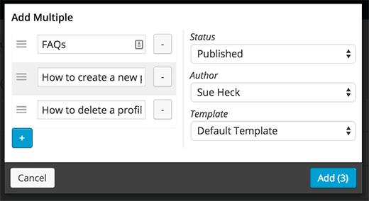 Agregar varias páginas en páginas anidadas
